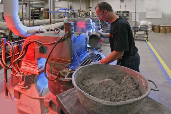 We utilize precision scales and high speed mixers to blend our raw materials;  temperature and humidity is closely controlled in the Mixing Department
