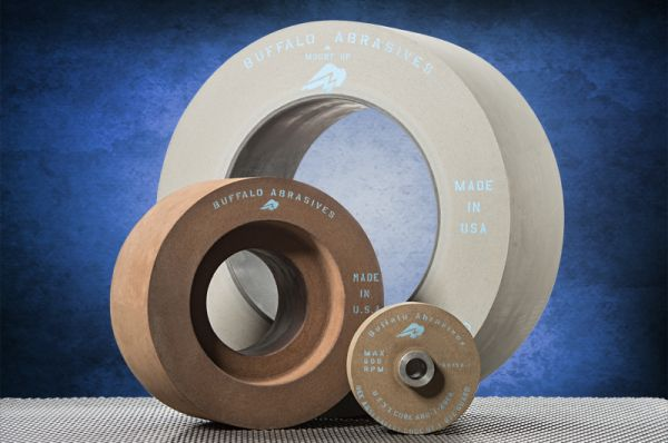 "We manufacture Precision Centerless Grinding Wheels,<br>sets up to 20"" wide, 600 grit and coarser,<br> for Bearing Manufacturers, Motor Vehicle Parts, Contract Machining and others"